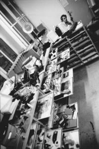 Jean-Paul dans son bureau de l'ENSCI