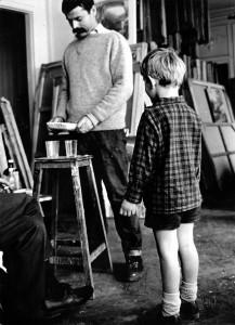 Jean-Paul et son fils David dans son atelier